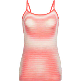 Icebreaker W's Siren Cami poppy red/snow/stripe